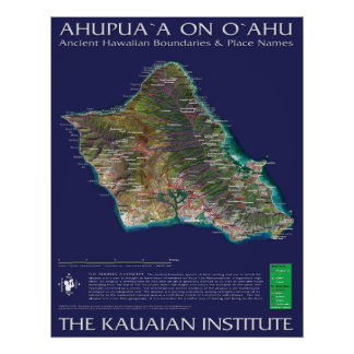 Oahu Ahupuaa Print