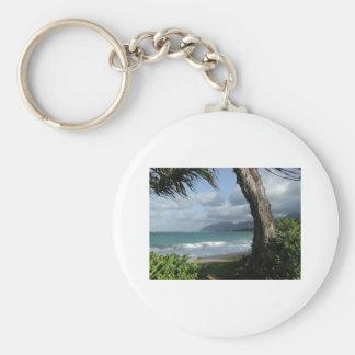 Oahu Beach Keychain