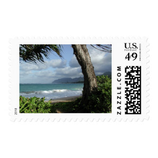 Oahu Beach Postage Stamps