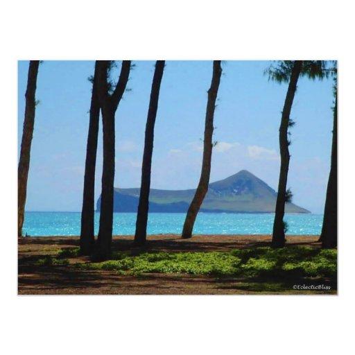 Oahu Bliss 5.5x7.5 Paper Invitation Card
