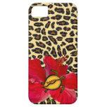 Oahu hawaiano Honu y estampado leopardo de oro iPhone 5 Coberturas