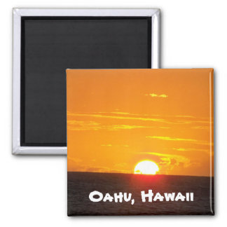 Oahu, Hawaii 2 Inch Square Magnet