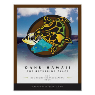 Oahu Hawaii - el lugar de acopio 4 Poster