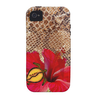 Oahu Hawaii Hibiscus on Snakeskin Case-Mate iPhone 4 Cases