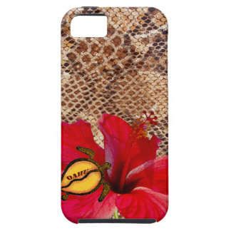 Oahu Hawaii Hibiscus on Snakeskin iPhone SE/5/5s Case