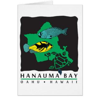 Oahu Hawaii Map Card