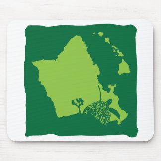 Oahu Hawaii Map Mouse Pad
