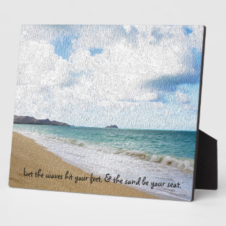 Oahu Hawaii Oil Paint Print & Quote Plaque