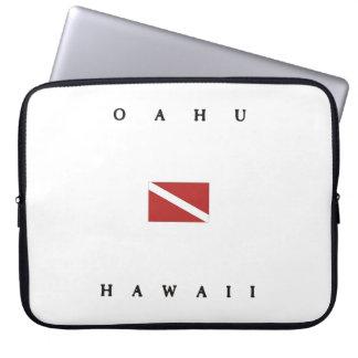 Oahu Hawaii Scuba Dive Flag Laptop Sleeve