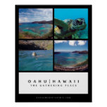 Oahu Hawaii - The Gathering Place Poster