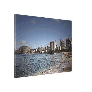Oahu Hawaii Waikiki beach scenic canvas print