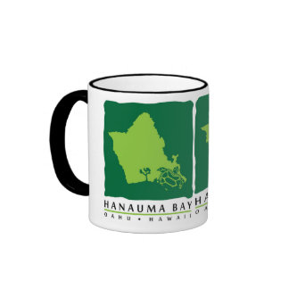 Oahu Island Hawaii Ringer Mug