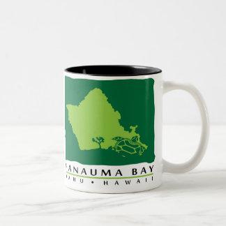 Oahu Island Hawaii Two-Tone Coffee Mug
