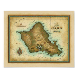 Oahu Island of Hawaii Print