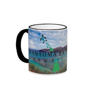 Oahu Island Turtle Ringer Coffee Mug