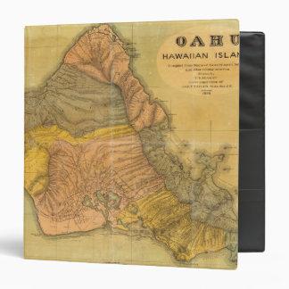 """Oahu, islas hawaianas carpeta 1 1/2"""""""