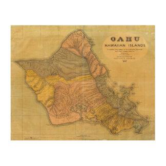 Oahu, islas hawaianas cuadro de madera