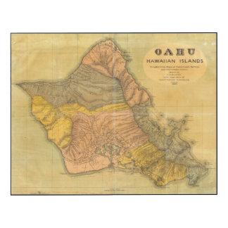 Oahu, islas hawaianas impresión en madera