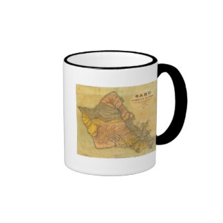 Oahu islas hawaianas tazas de café