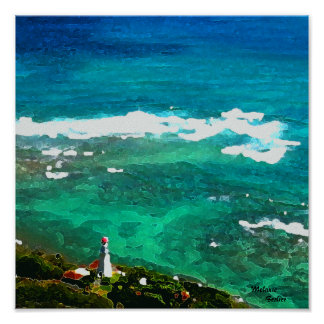 Oahu Lighthouse Poster