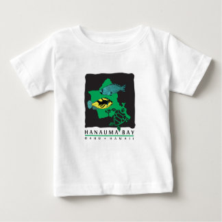 Oahu Map - Turtle, Trigger and Parrot Fish Baby T-Shirt