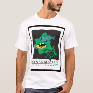 Oahu Map - Turtle, Trigger and Parrot Fish T-Shirt