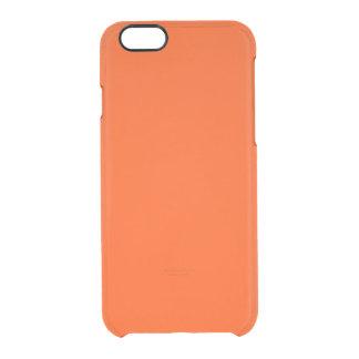 Oahu Orange Hibiscus Hawaiian Sunset Clear iPhone 6/6S Case