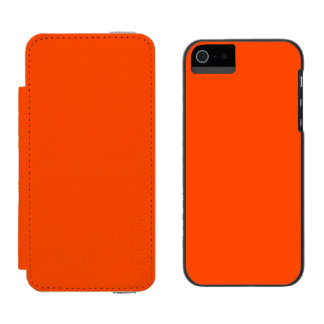Oahu Orange Hibiscus Hawaiian Sunset iPhone SE/5/5s Wallet Case