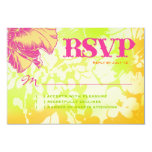 OAHU RSVP Floral Linen Paper 3.5x5 Paper Invitation Card
