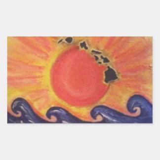 Oahu Sun Rectangular Sticker