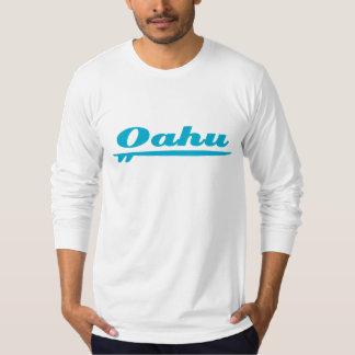 Oahu surfboard blue t-shirt