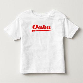 Oahu surfboard red tshirt