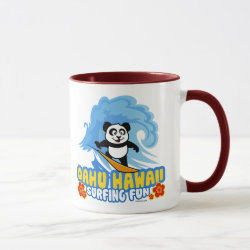 Combo Mug with Oahu Surfing Panda design