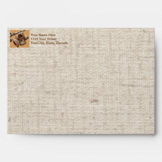 Oak Acorn Caps Envelope