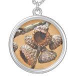 Oak Acorn Caps Necklaces