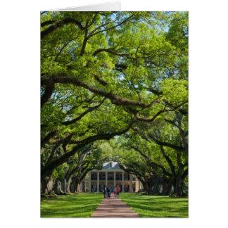 Oak Alley Plantation House Card