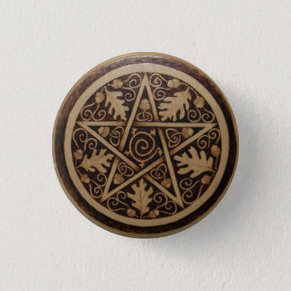 Oak and Acorn Pentacle Button Pin