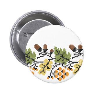 Oak autumnal background 2 inch round button
