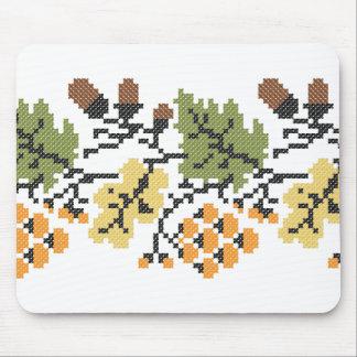 Oak autumnal background mouse pad