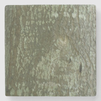 Oak Bark Camo All Seeing Eye Tree Eye Stone Beverage Coaster