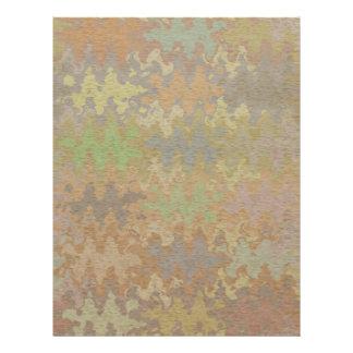 Oak Bark Stone Brick with Rare Earth Colors Letterhead
