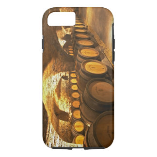 Oak barrles in the cellar at Domaine Comte iPhone 8/7 Case