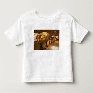 Oak barrles in the cellar at Domaine Comte Toddler T-shirt