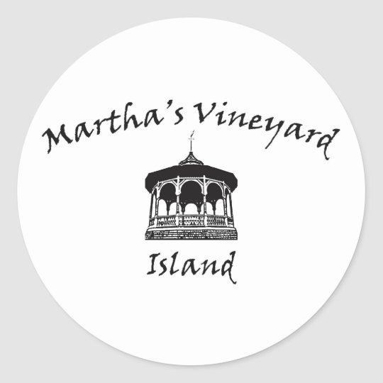 Oak Bluffs Gazebo Classic Round Sticker