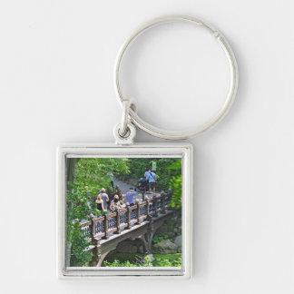 Oak Bridge at Bank Rock Bay, Central Park Keychain
