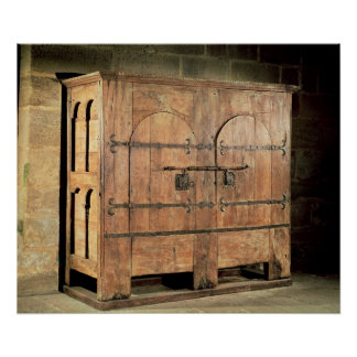 Oak chest of drawers poster