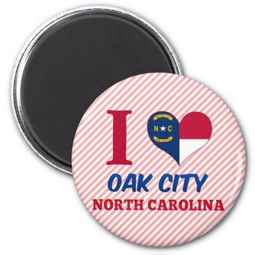Oak City, North Carolina Fridge Magnets