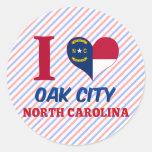 Oak City, North Carolina Round Stickers