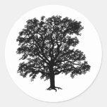 Oak Classic Round Sticker