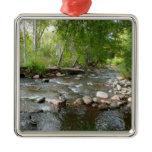 Oak Creek and Mallard Ducks Nature Photography Metal Ornament